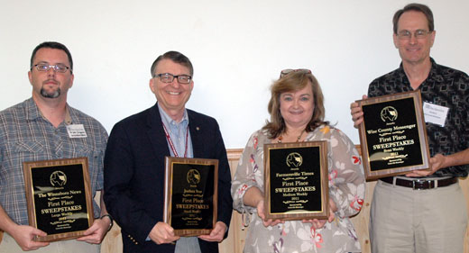 2012 Better Newspaper Contest Sweepstakes Winners